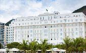 RIO DE JANEIRO, BRAZIL - CIRCA NOV 2014: Copacabana Palace Hotel in Rio de Janeiro. The Copacabana Palace Hotel is the most famous and luxurious hotel in Rio de Janeiro, Brazil.