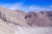 Arid mountains, south coast of Peru, view from Panamerican Highway