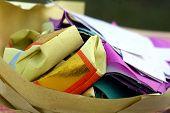 Folded paper offerings