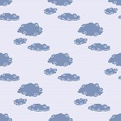 Clouds Storm Seamless Pattern