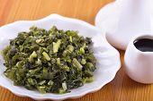 Appetizer Of Marinated Wild Garlic
