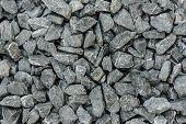 Grey Granite Gravel Background For Mix Concrete