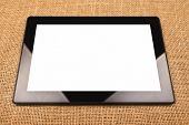 Digital Tablet Computer With Blank White Screen