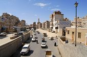 Street of the old Sanaa city, Yemen.