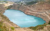 picture of open-pit mine  - Open pit mine in Balaklava near Sevastopol city - JPG