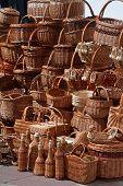 Twig Bottles, Plates, Boxes, Basket