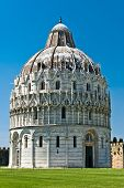 The Dome than the leaning tower of Pisa, Italy.