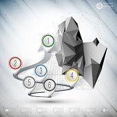 Vector arrow 3d to success. Infographic for business design and website template