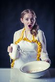Amazed Housewife