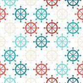 Steering Wheel Seamless Pattern.