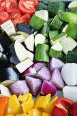 fresh veggies ready to roast