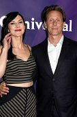 LOS ANGELES - JAN 15:  Kyra Zagorsky, Steven Weber at the NBCUniversal Cable TCA Winter 2015 at a The Langham Huntington Hotel on January 15, 2015 in Pasadena, CA