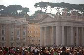 The Faithful Crowd In St. Peter's Square