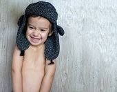 Portrait of child laughing