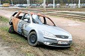 Burnt Motor Car