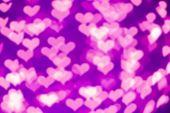 Purple Heart Bokeh Background