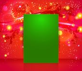Bright and sparkling Christmas page layout with place for your t