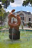 Sculpture, Opera House, Ho Chi Minh City, Vietnam