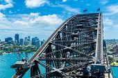 Aerial view of Sydney Harbour Bridge, Australia