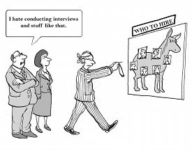 pic of conduction  - The boss hates conducting interviews so he makes random decisions - JPG