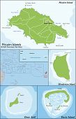 picture of pacific islands  - The Pitcairn Group of Islands are a group of four volcanic islands in the southern Pacific Ocean that form the last British Overseas Territory in the Pacific - JPG
