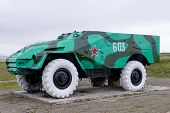 pic of military personnel  - Armoured personnel carrier BTR - JPG