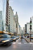 picture of illinois  - Traffic in beautiful Chicago city center Illinois USA - JPG