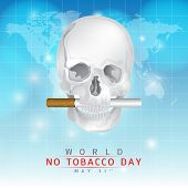 foto of tobacco smoke  - May 31st World no tobacco day - JPG