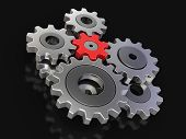 stock photo of three dimensional shape  - Cogwheels - JPG