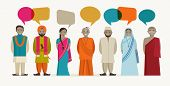 stock photo of indian  - Indian people talk  - JPG