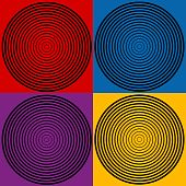 4-color Spiral Designs