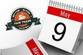 picture of trade  - Fair Trade graphic against may calendar - JPG
