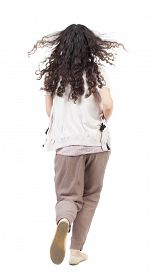foto of hair motion  - back view of running  woman - JPG