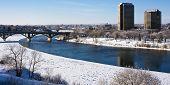 Inverno na cidade de Saskatoon, Canadá