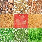 Collection Of Fruit And Vegetable Food  Backgrounds