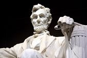 stock photo of abraham lincoln memorial  - closeup of lincoln memorial in washington dc - JPG