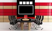 Black And Red  Meeting Room