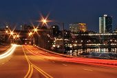 stock photo of knoxville tennessee  - photo of neyland drive in knoxville tn at night - JPG