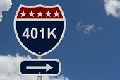 American 401K Highway Road Sign poster