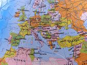 stock photo of eastern hemisphere  - spherical globe map puzzle showing greater europe - JPG