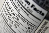 picture of food label  - a close up of a nutritional value label on the back of a soda can - JPG