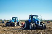 Agricultural Machinery On The Field poster