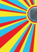 Sunny Mic Party Background