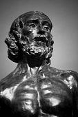 Estátua de São João o Batista pregando por Auguste Rodin