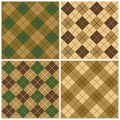 Argyle Pattern in Green and Brown