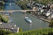 Picturesque View Of The Mosel River And The Vity Of Cochem, Germany