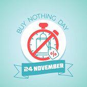 20 November Buy Nothing Day poster