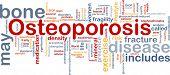 Konzept Wordcloud Hintergrund der Ohrenrauschen Knochenerkrankung