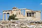 Temple Of Erechtheum, Acropolis, Athens, Greece