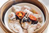 Chinese dim sum Black bean steamed pork ribs - Steamed Chinese groumet cuisine poster